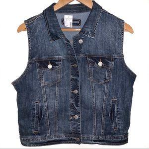 Maurices NWT Denim Button Up Jean Vest Jacket